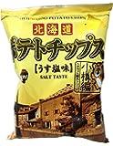 深川油脂工業 ポテトチップス小樽編 うす塩味 72g