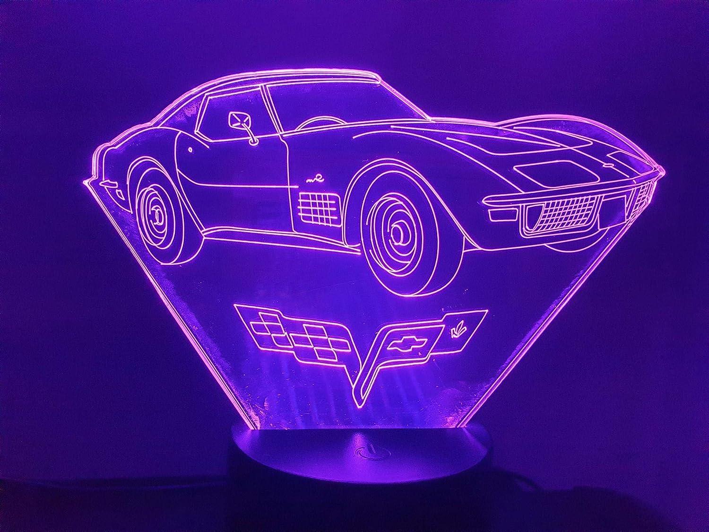 3D LED lamp CHEVROLET CORVETTE C3