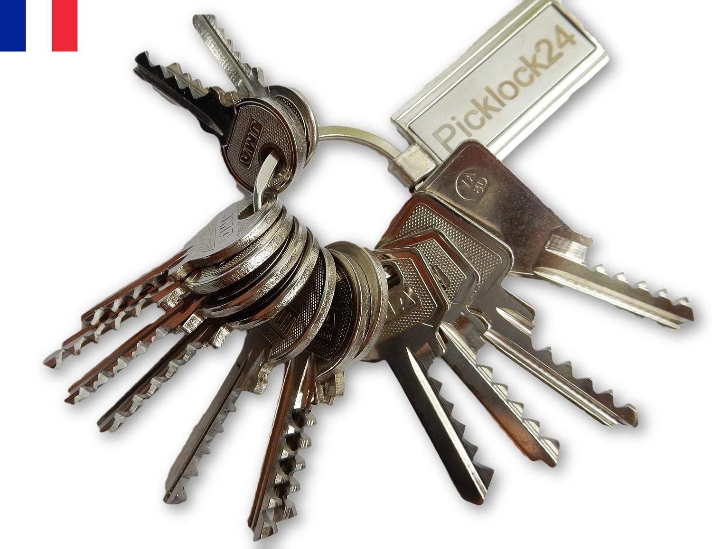 Picklock24 Juego de llaves universales Francia (14 llaves): Amazon ...