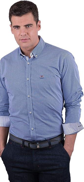 La Española Camisa Mini Vichy Azul: Amazon.es: Ropa y accesorios