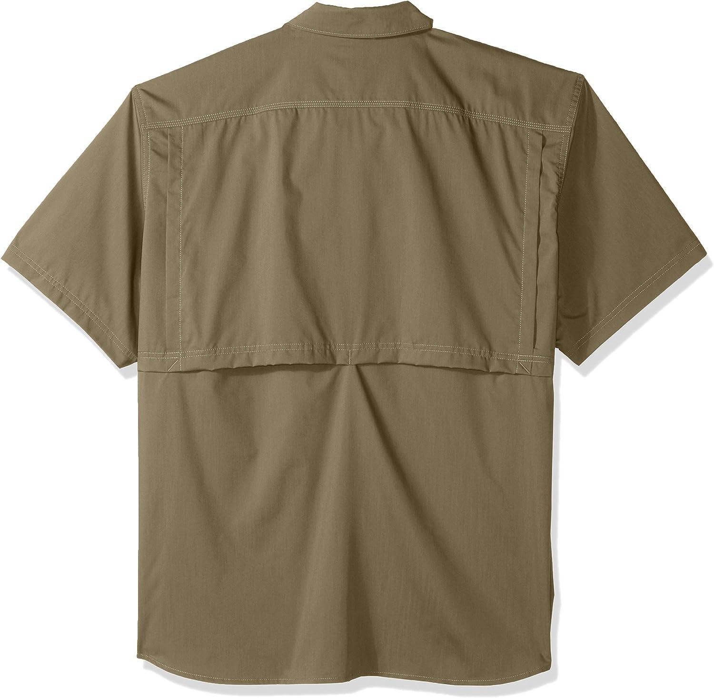 Carhartt Mens Mens Big /& Tall Force Ridgefield Solid Short Sleeve Shirt Button-Down Shirt