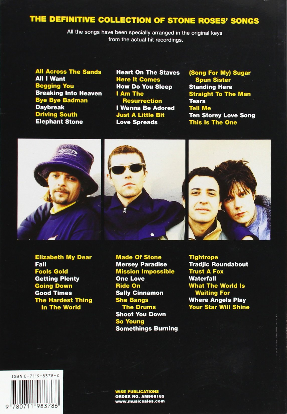 The Stone Roses Complete Chord Songbook Includes Full Lyrics