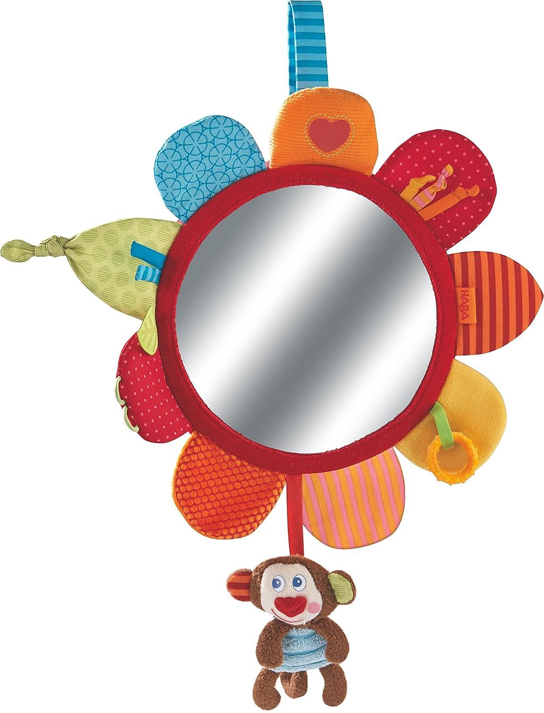 HABA 302995 - Spielkissen Affe Lino   Baby-Spielzeug mit großer Spiegelfolie und vielen Spielelementen zum Entdecken  Motorikspielzeug ab 6 Monaten Habermaass GmbH