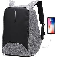 Antirrobo Mochila Seguridad para portátil 15.6 Pulgadas Impermeable USB Bolso de Viaje Casual Negocios Escolar Mochila para Hombres y Mujers