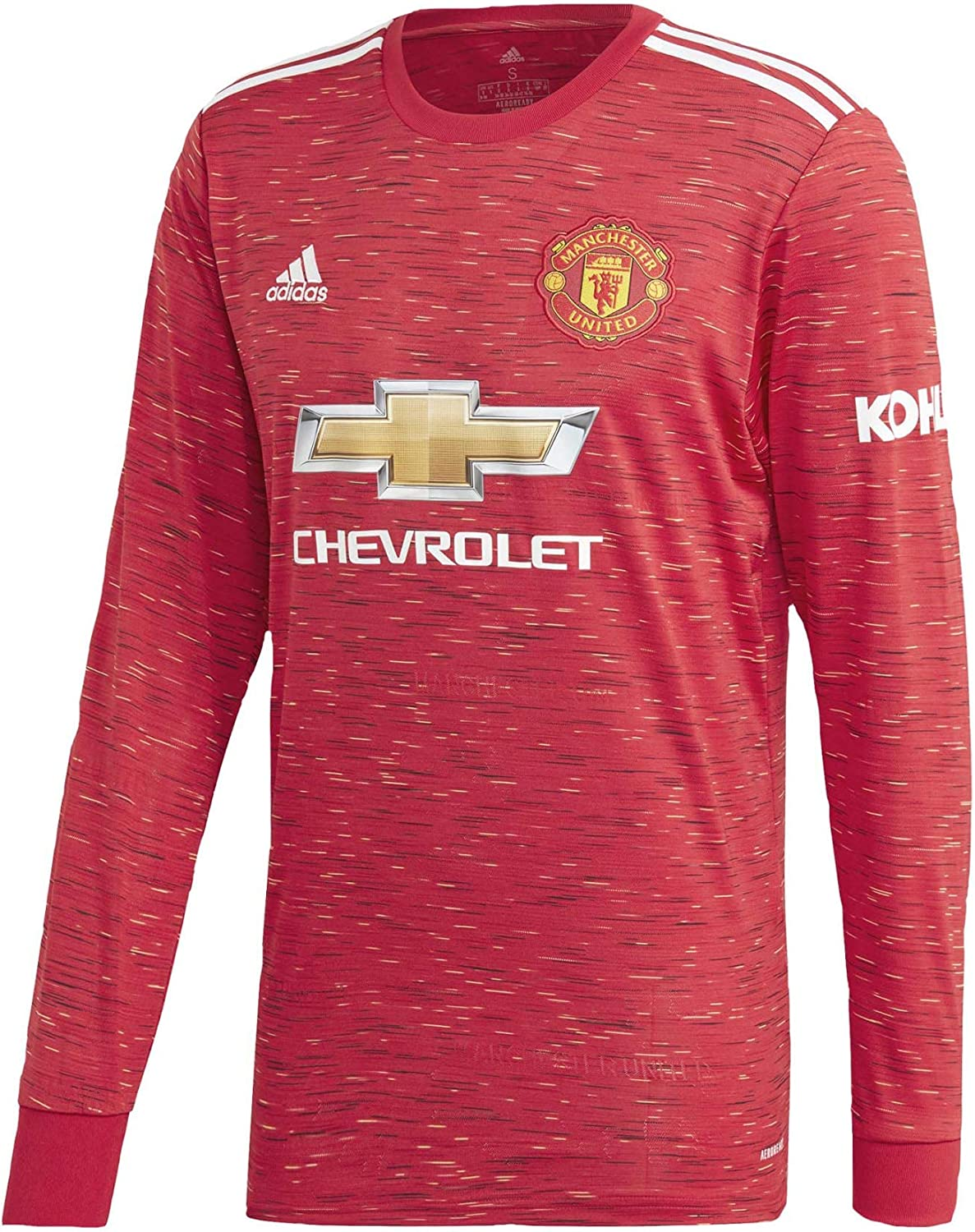 adidas Men's Soccer Manchester United 20/21 Home Long Sleeve Jersey
