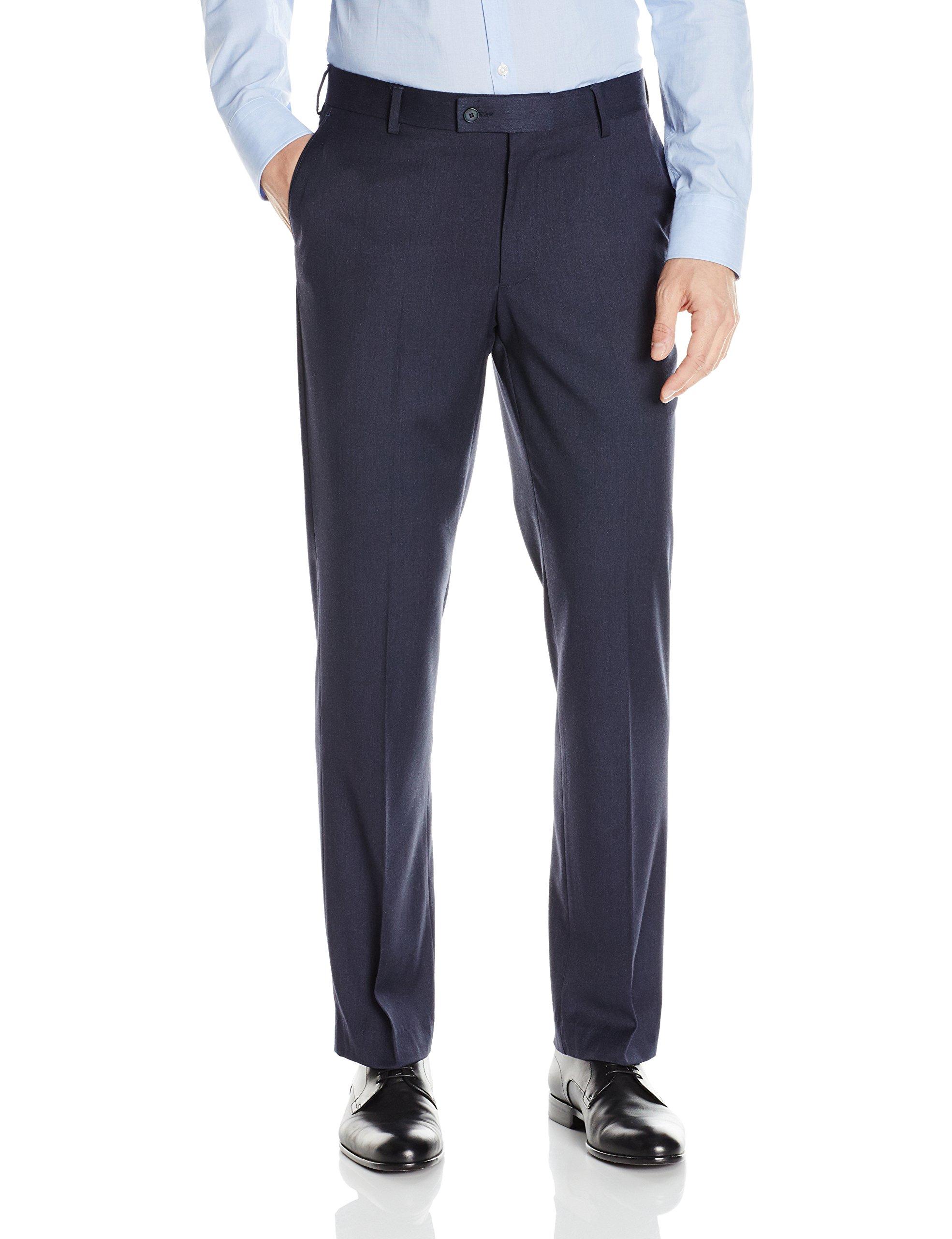 Arrow Men's Minibone Suit Separate Pant, Blue, 42W x 30L by Arrow 1851