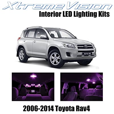 XtremeVision Interior LED for Toyota RAV4 2006-2014 (6 Pieces) Pink Interior LED Kit + Installation Tool: Automotive