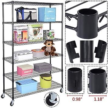 Amazon.com: 6 Shelf Rack Shelving Storage Wire Home Kitchen ...