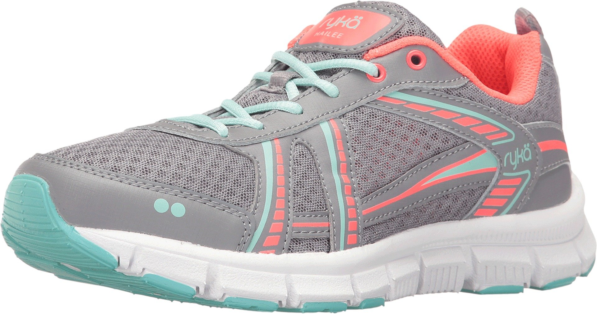 Ryka Women's Hailee SMT Frost Grey/Eggshell Blue/Electric Coral 9.5 D US