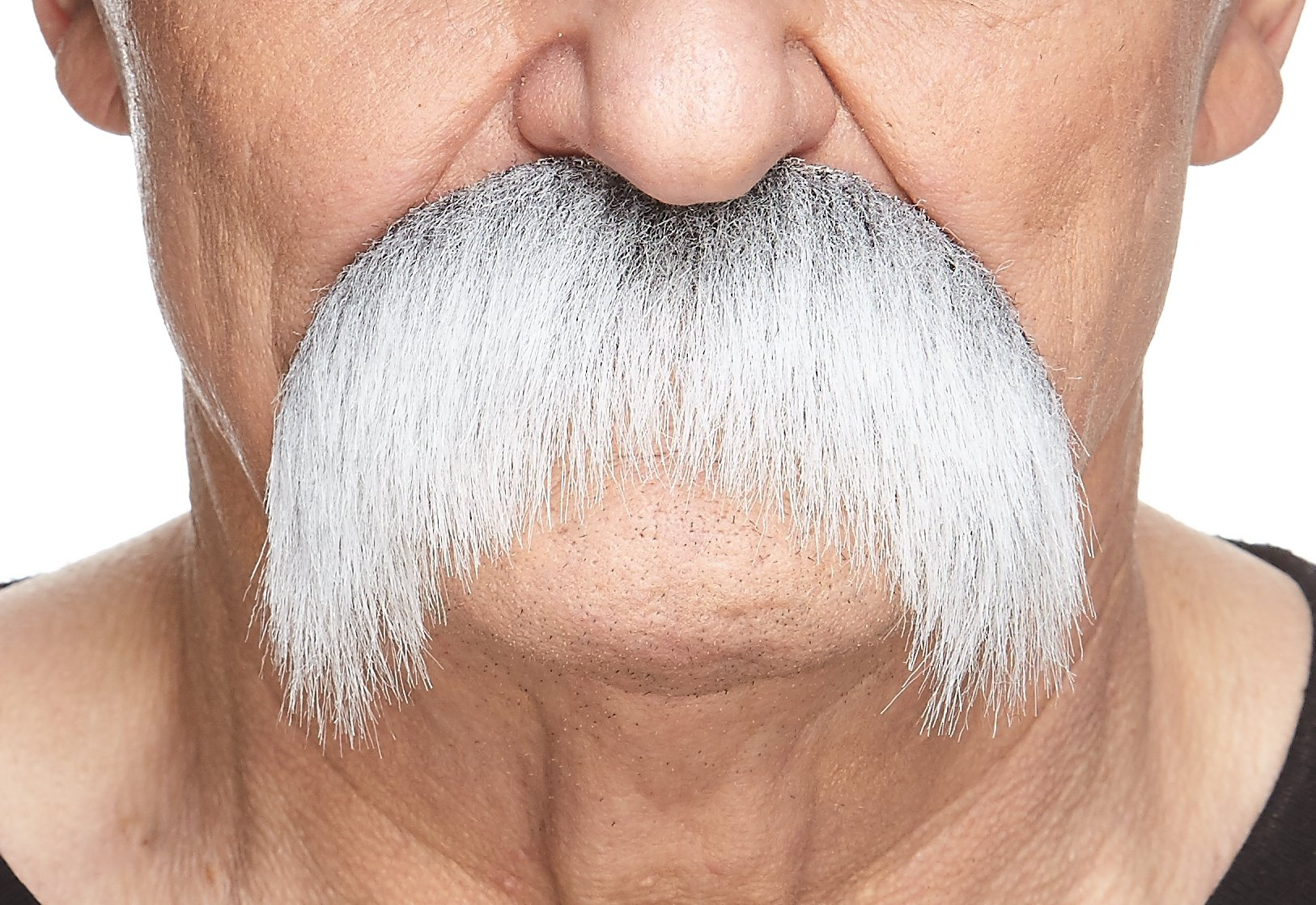Mustaches Self Adhesive Fake Mustache, Novelty, Walrus False Facial Hair, Costume Accessory for Adults, Costume Accessory for Adults, Gray with White Color