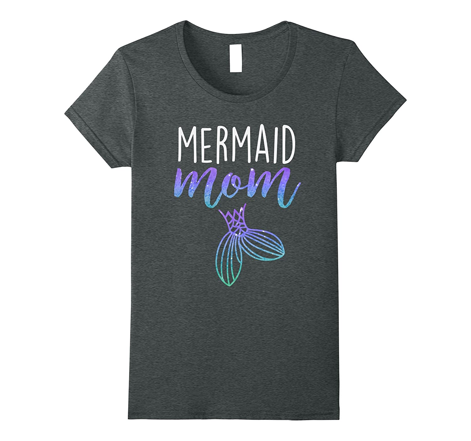 Womens Mermaid Mom Mermaid Birthday Party Shirt-fa