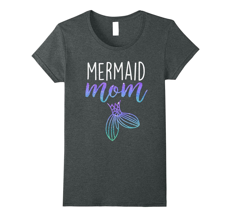 Womens Mermaid Mom Mermaid Birthday Party Shirt-T-Shirt