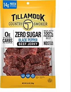 product image for Tillamook Country Smoker Zero Sugar Black Pepper Keto Friendly Beef Jerky, 6.5 Ounce (Pack of 1)