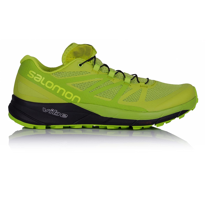 [サロモン] トレイルランニングシューズ SENSE RIDE メンズ B01MYQEPW1 12 Lime Punch, Lime Green, Black