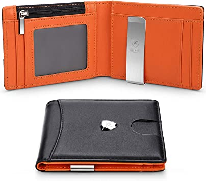 mens wallets  money clip card cases leather bifold  Credit Card leather long