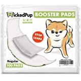WICKEDPUP Dog Diaper Liners Booster Pads for Male and Female Dogs, 100ct | Disposable Doggie Diaper Inserts fit Most Reusable