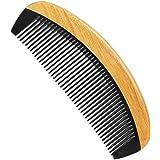 Onedor Extra Length Handmade 100% Natural Green Sandalwood With Buffalo Horn Fine Tooth Hair Combs(Buffalo Horn Oval Fine Too