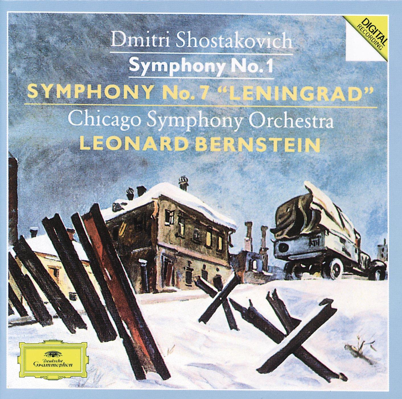 "Dmitri Shostakovich, Leonard Bernstein, Chicago Symphony Orch. -  Shostakovich: Symphony, No. 1 / Symphony, No. 7, ""Leningrad"" - Amazon.com  Music"