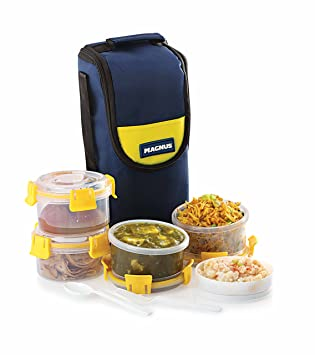 Magnus Vega 4 Klip Lock - Botes de plástico (4 unidades), color amarillo: Amazon.es: Hogar
