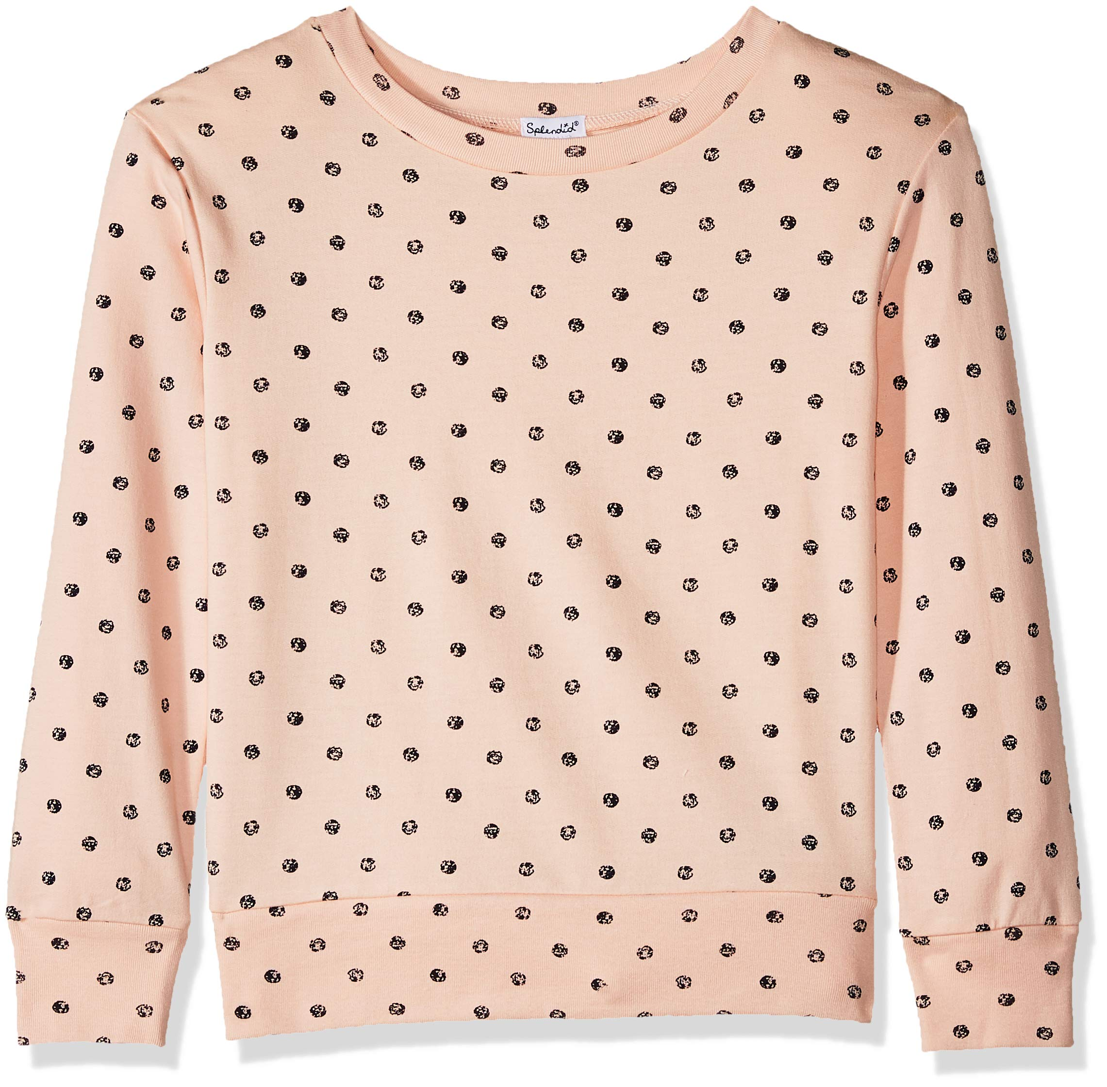 Splendid Toddler Girls' Kids and Baby Long Sleeve Pullover Sweater, Cloud Pink, 2T