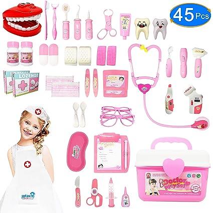 Amazon.com: JGSY - Kit médico para niños, 45 piezas, juguete ...