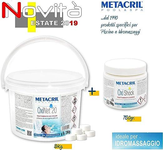 Metacril Lot De Pastilles D Oxygene 20 G 3 Kg Oxygene Shock 750