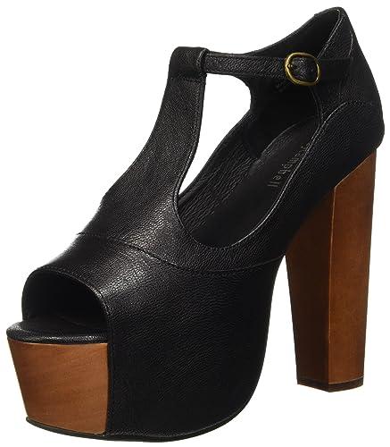 0ff3e792abe8 Jeffrey Campbell Women s Jeffrey Campbell Foxy Black Leather Sandal  40(IT)-10(