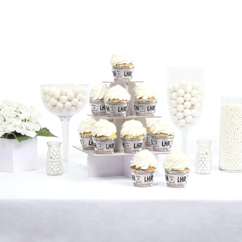 Amazon.com: World Awaits - Travel Themed Decorations - Party Cupcake ...