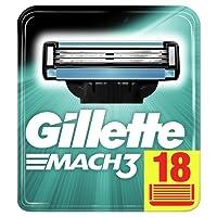 Gillette Mach3 Razor Blades, 18 Refills