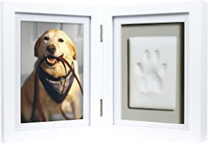 Pearhead Pet Keepsake Picture Frame and Pawprint Kit, Cat or Dog Owner Gift