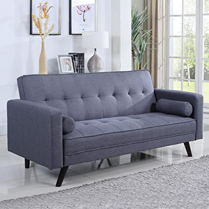 Surprising Amazon Com Home Source U 20000 Sb Grey Sofa Bed Kitchen Machost Co Dining Chair Design Ideas Machostcouk