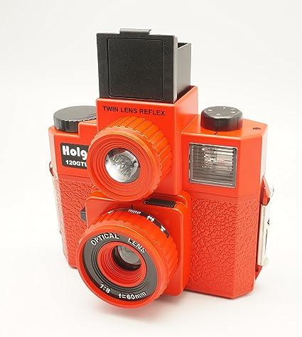 Holga 120 gtlr rojo formato mediano 120 Cámara de cine doble lente ...