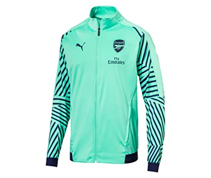 6a60776e167e Amazon.com   PUMA 2018-2019 Arsenal Stadium Jacket (Green)   Sports    Outdoors
