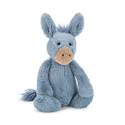 Jellycat Bashful Donkey Stuffed Animal, Medium, 12 inches: Toys & Games