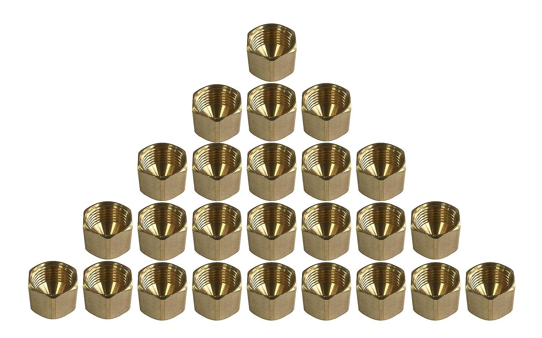 Cap Nut sky-w SAE 45 Degree Flared Fittings Pack of 5, 1//4 Female