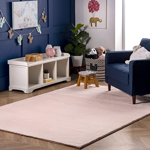 nuLOOM Rabbit Soft Cozy Solid Shag Area Rug