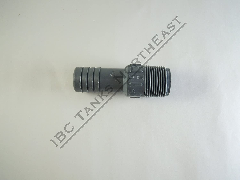 UKC 275//330 IBC Tote Drain Adapter 2 Cam-Lock x 3//4 Hose Barb