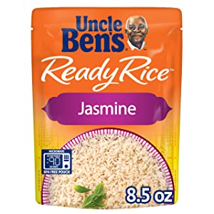 UNCLE BEN'S Ready Rice: Jasmine Rice, Ready to Heat 8.5 Oz Pouches, Pack of 6