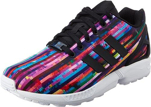 adidas ZX Flux, Sneakers Basses Homme Noir Noir, 43 13