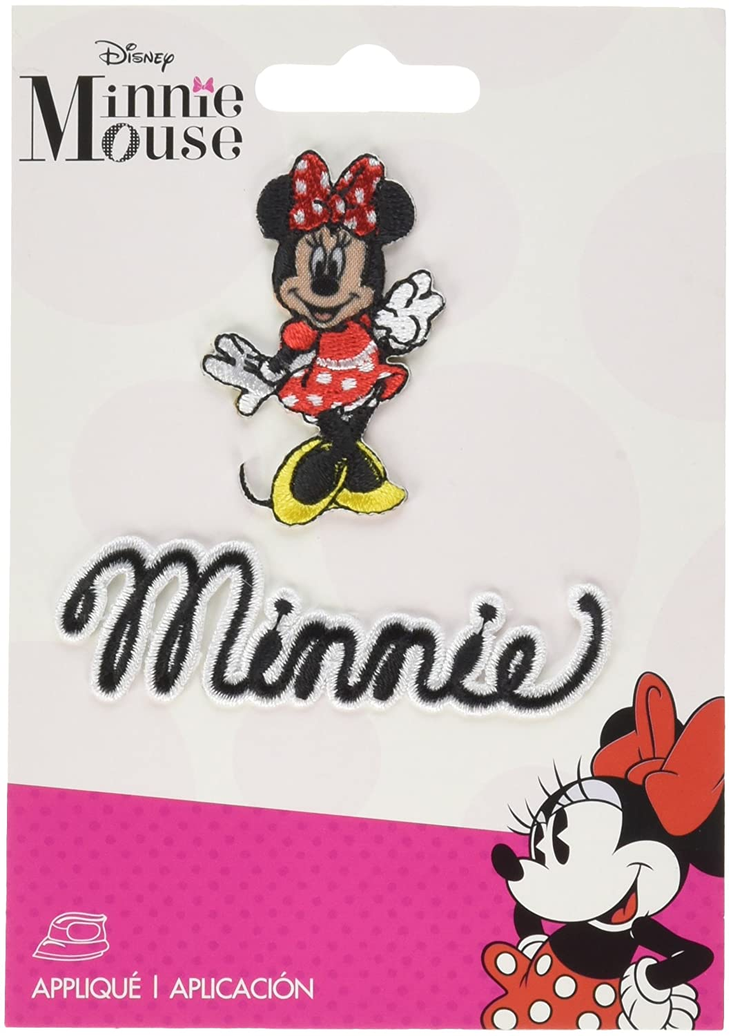 Wrights 19311550001 Disney Mickey Mouse Iron-On Applique-Minnie Mouse Body W//Script