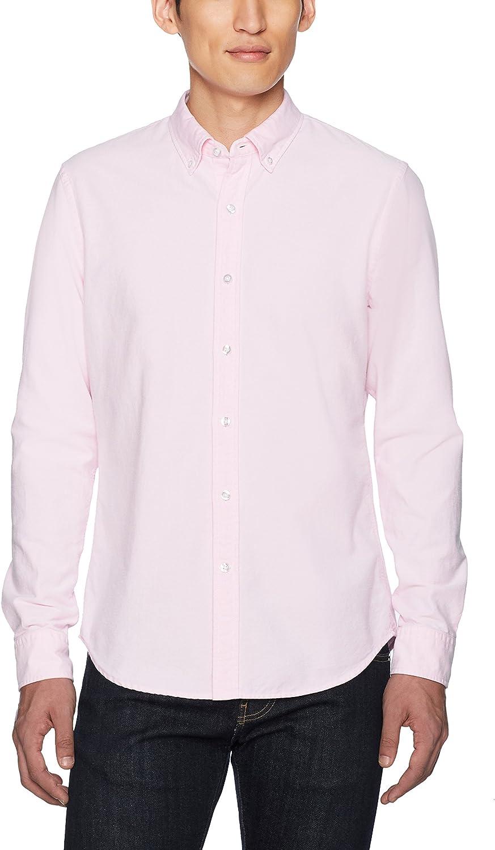 Goodthreads Mens Slim-Fit Long-Sleeve Solid Oxford Shirt
