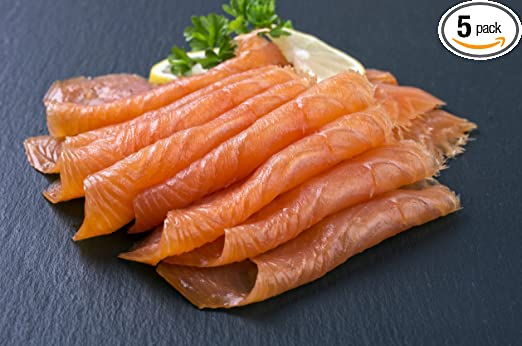 5 X 4oz Most Awarded Pre Sliced Smoked Salmon All Natural