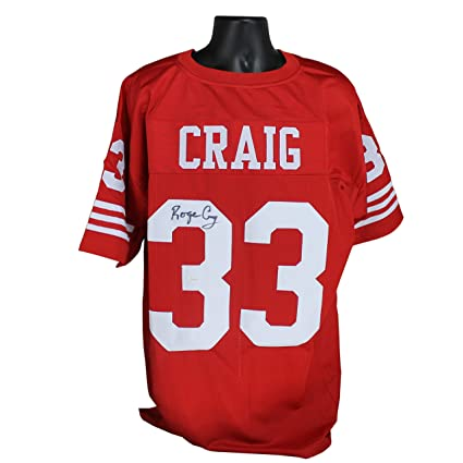 5c8c17044 Roger Craig Autographed San Francisco 49ers Red Custom Jersey w JSA ...