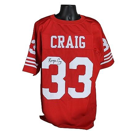 3fb0b66cf Roger Craig Autographed San Francisco 49ers Red Custom Jersey w JSA ...