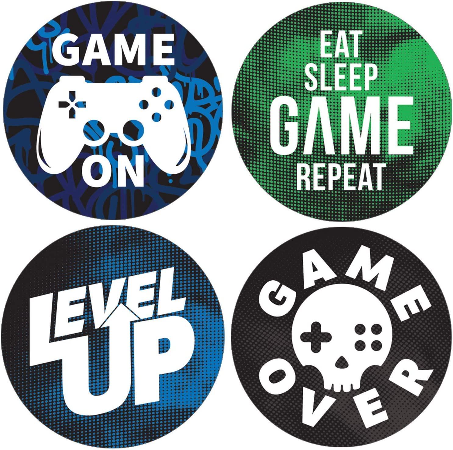 DISTINCTIVS Video Game Birthday Party Favor Stickers - 1.75 in - 40 Labels