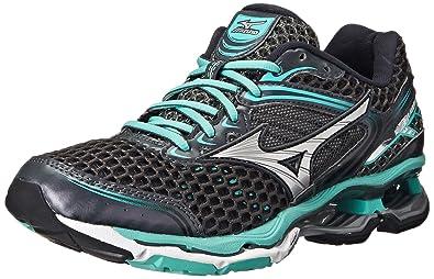 purchase cheap 26a64 b86a7 Mizuno Women s Wave Creation 17 Running Shoe, Dark Shadow Silver,6 ...