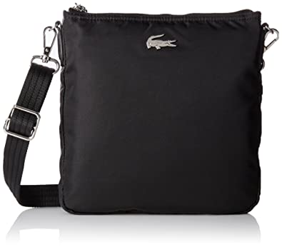 afb7767a11 Lacoste Women's NF1656ON Cross-Body Bag, (Black), 23 x 2.5 x 23 cm:  Amazon.co.uk: Shoes & Bags