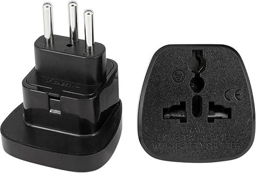 S-Conn – Adaptador de enchufe de viaje de Suiza tipo J 3 pin a enchufe de Reino Unido (Pack de 2): Amazon.es: Electrónica
