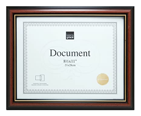 Double Diploma Frame With Black And Gold Matting For Two 85 X 11