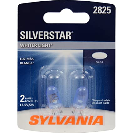 Amazon.com: SYLVANIA 2825 SilverStar High Performance Miniature Bulb, (Contains 2 Bulbs): Automotive